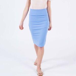 Agnes and Dora Pencil Skirt powdered blue